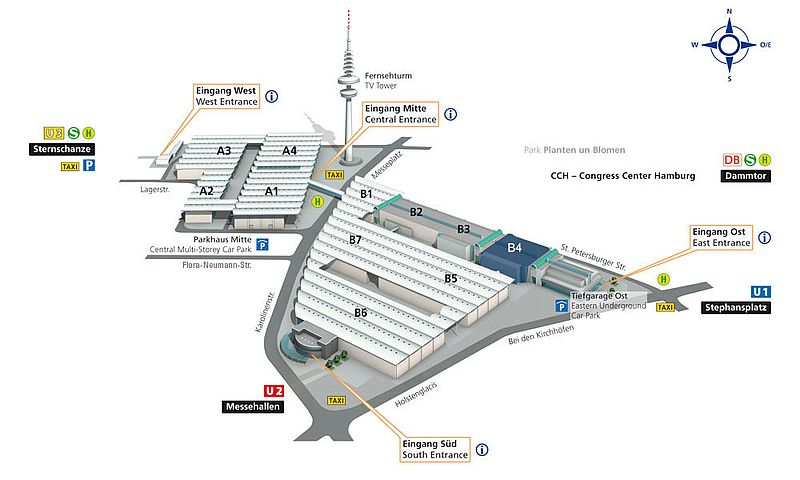 Hamburg Messe - Location Hall B4