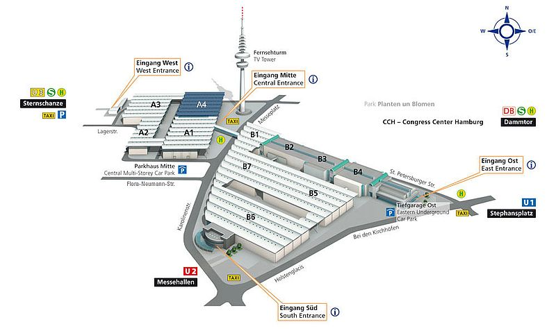 Hamburg Messe - Location Hall A4